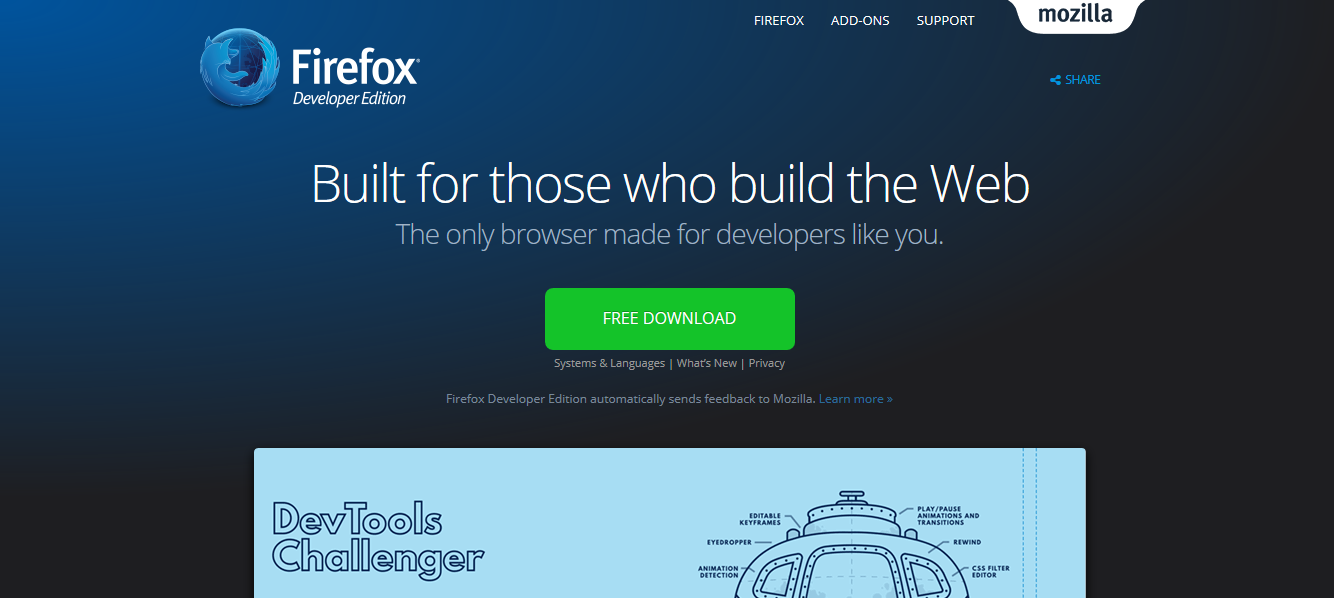 火狐浏览器开发者专版