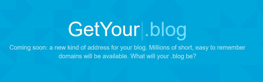 .Blog域名预计今年底前上线